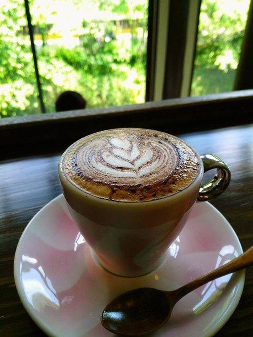 Cappuccino with cocoa powder