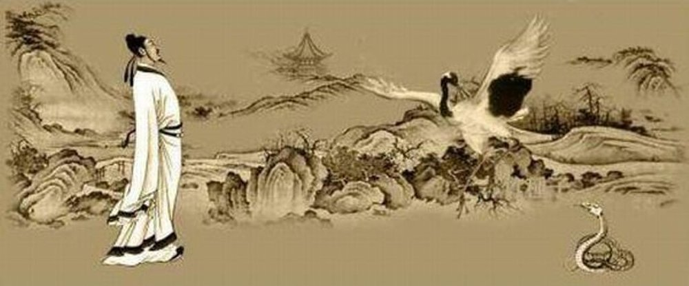 The mythic story of Taijiquan, the Sage Chang San-Feng, being inspired to embody the martial art form know as Taijiquan by watching the movements of a Crane and Snake interact with each other.