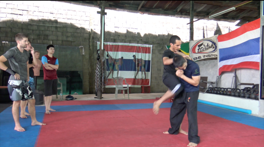 Guro Kai teaching empty hands portion of Central Motion Kalis in Chiang Mai, Thailand @ Core Combat Gym with lead instructor Sakan Lam.