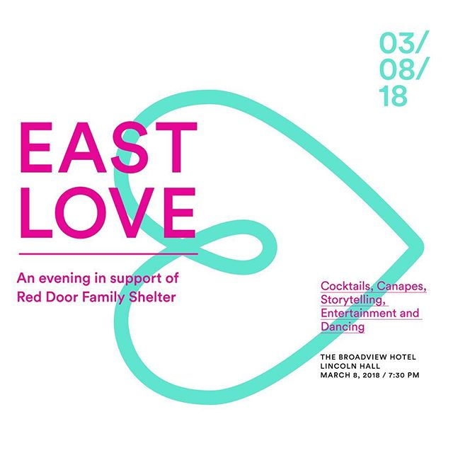 On March 8th the east end comes together in support of @reddoorfamilyshelter 💖 ⠀⠀⠀⠀⠀⠀⠀⠀⠀ Join us at the Broadview Hotel for an evening of stories of resilience, cocktails, and dancing!💃🏻 🕺 ⠀⠀⠀⠀⠀⠀⠀⠀⠀ Plus! @liltalks will be one of four speakers who have countered adversity with resilience, turning a negative experience into one of strength 💪🏼 ⠀⠀⠀⠀⠀⠀⠀⠀⠀ 🎟 Buy tickets at eastlove.ca and follow @EastLove2018 for details!