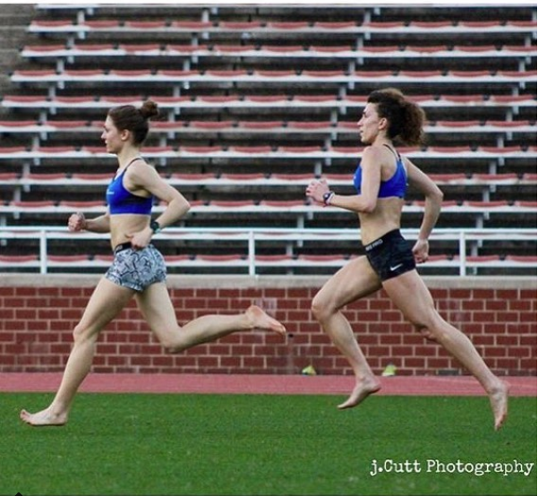 Barefoot Strides with RDP Teammate Sarah Rapp