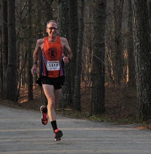 Tim Meigs racing on the American Tobacco Trail