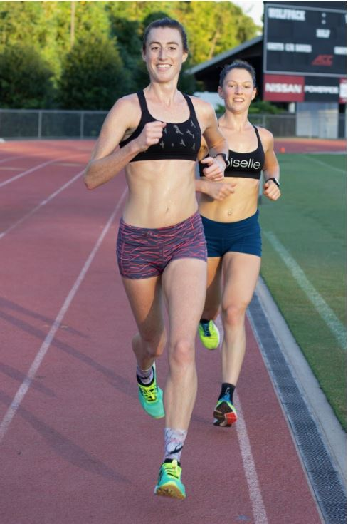 Sometimes we smile during mile repeats // tune up workout for the 10 Miler