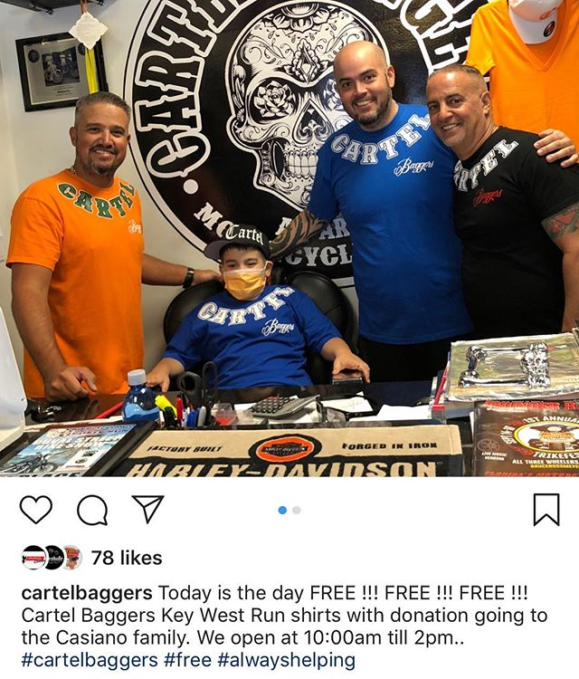 Go check my brothers out CARTEL MIAMI! 🙌🏼 FREE SHIRTS WITH DONATION!! 💪🏼 #cartelbaggersnj  #cartelbaggers