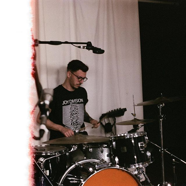First film photo of @frankrousso by @john_papi at @breakglassstudios | 📸 🥁 . #themoonlightclub #mtl #montreal #montréal #montrealcity #mtlmoments #mtlblog #mtlband #montréaljetaime #mtllife #montrealer #drums #drummer #rock #band #music #drummer #drums #joydivision
