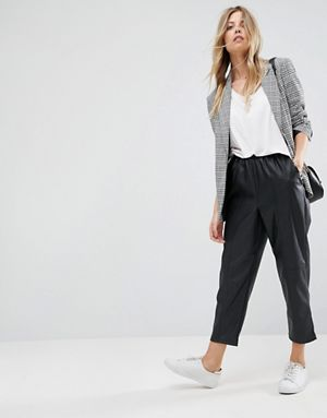 http://www.asos.com/asos/asos-leather-look-tapered-trouser-with-elasticated-back/prd/7896090?clr=black&SearchQuery=leather%20trousers&gridcolumn=2&gridrow=3&gridsize=2&pge=1&pgesize=72&totalstyles=30