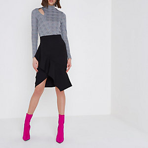 https://www.riverisland.com/p/black-asymmetric-frill-pencil-skirt-714441