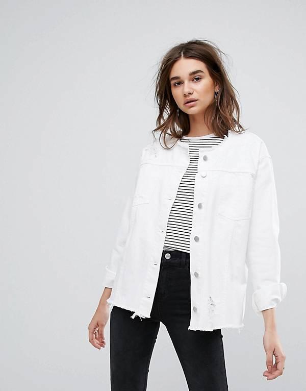 http://www.asos.com/chorus/chorus-white-oversized-raw-hem-collarless-denim-jacket/prd/8288855?clr=white&SearchQuery=white%20denim%20jacket&gridcolumn=1&gridrow=9&gridsize=4&pge=1&pgesize=72&totalstyles=35