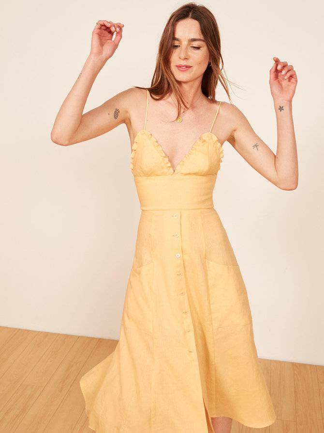 https://www.thereformation.com/products/fig-dress?color=Buttercup