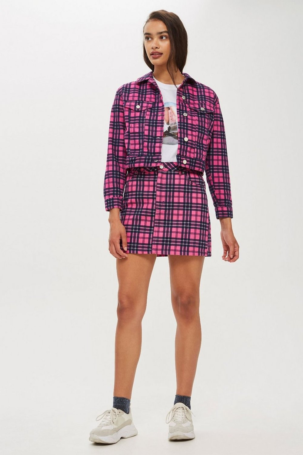 http://www.topshop.com/en/tsuk/product/clothing-427/trend-check-you-out-7909667/pink-check-denim-skirt-7879184
