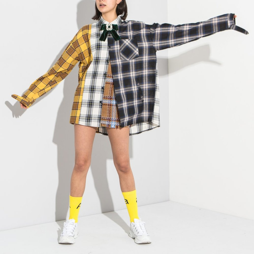 https://www.ohheygirlstore.com/collections/new-in/products/copy-of-patchwork-checked-shirt