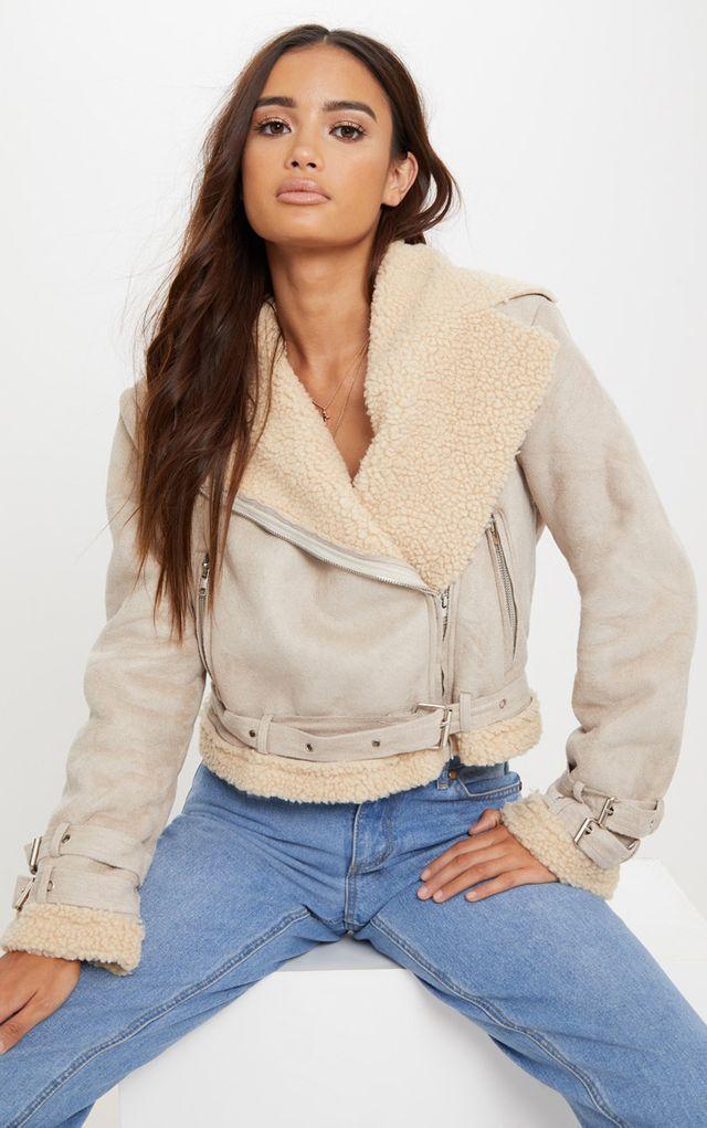 https://www.prettylittlething.us/beige-cropped-faux-suede-aviator-jacket.html