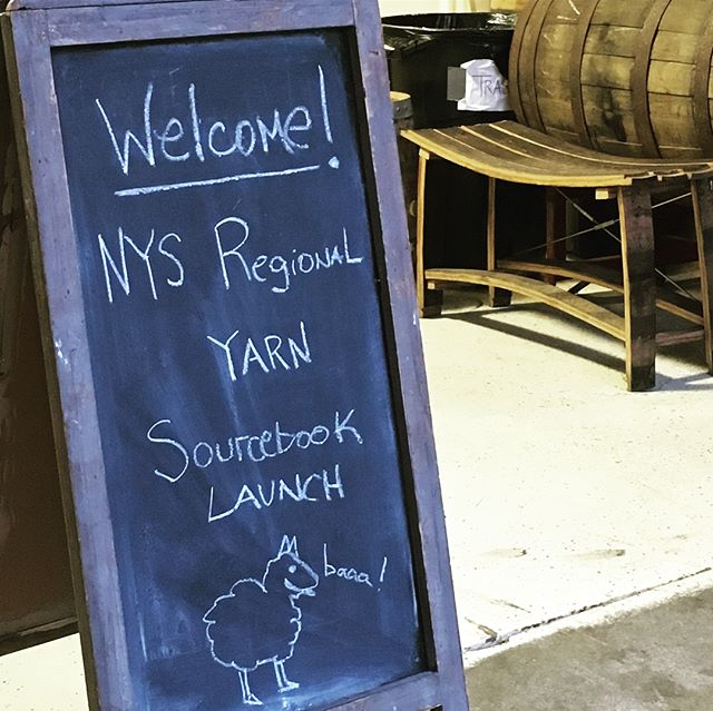 Thank you, friends of Textile Lab for joining us at our NYS Regional Yarn Sourcebook Launch on Friday night @denningspointdistillery in Beacon! It was great to see @songbird_studio @woodlandpantry @erika_barratt @suzannedvells @newyorkheartwoods @anettemillington @kennethmillington @wickhamsolidwoodstudio @willworks. Many thanks to @timorissanen for speaking about the project, and it was wonderful to hear Gibson Durnford from the NYC Watershed Agricultural Council talk about partnering with us to develop a #carbonfarmplan for @farawayfarmalpacas who just joined the book! Excited to be creating climate beneficial yarns in the near future. Memberships to the book are available for farmers and designers. Follow our link to learn more about joining the NYS textile supply chain with Textile Lab! #regenerativetextilesystems #soilhealthmatters #climatebeneficialwool #regionaleconomies #decentralizedtextiles