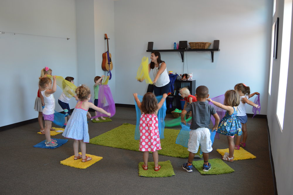 3 to 5 Years - Sing Me A Story is an interactive music class that fosters social skills, self-confidence, imaginative play, and fun! In this class, your child will work together with their friends to re- create classic fairy tales like The Little Mermaid, Aladdin, Cinderella, Peter Pan, Pinocchio, Little Red Riding Hood, and Sleeping Beauty. Through song, instrument play, and dance, the class will participate in monthly themes culminating in a mini-performance. Parents are invited in for a sharing time with their children at the end of each class.