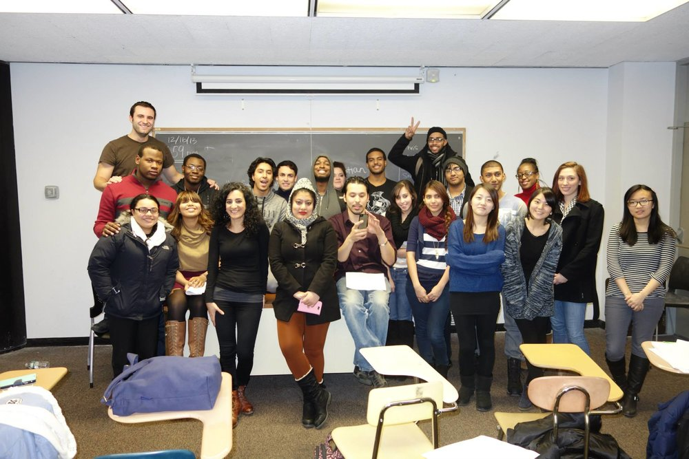 Class at City College of New York, 2014