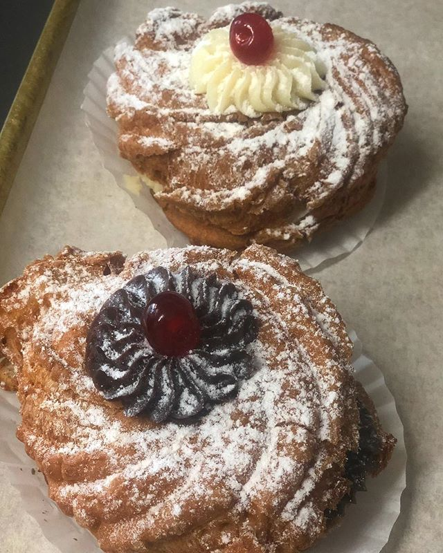 Come on in and feast on our delicious St. Joseph's cakes! (Zeppoli) Available now through March! Order today!