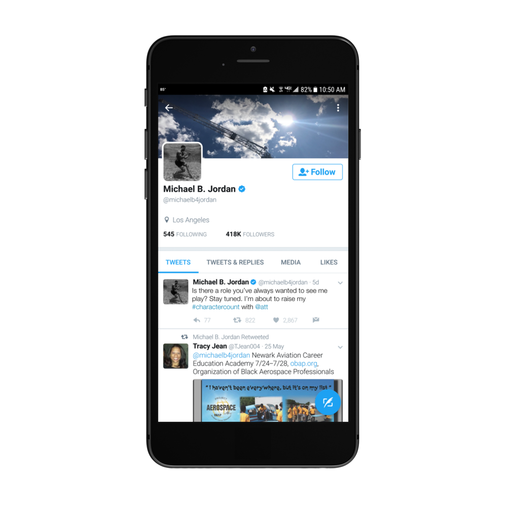I created this mockup to sell AT&T on a Twitter-based campaign