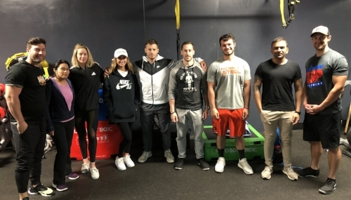 Our Academy - Students learning how to be a trainer at Crunch Fitness on Sunset BLVD in Hollywood.  Jarad Gains is the Personal Training manager and has been a successful trainer for over 12 years.  In order to become the best, you need to learn from the best, 90% of success is SHOWING UP!
