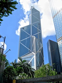 The Bank of China Building designed by I.M. Pei, image via wikipedia