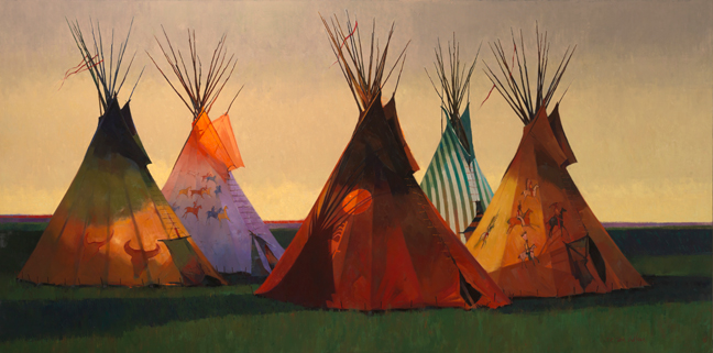 Shadow of the Sixth, oil, by R. Tom Gilleon, in private collection (image via C.M Russell Museum web site)