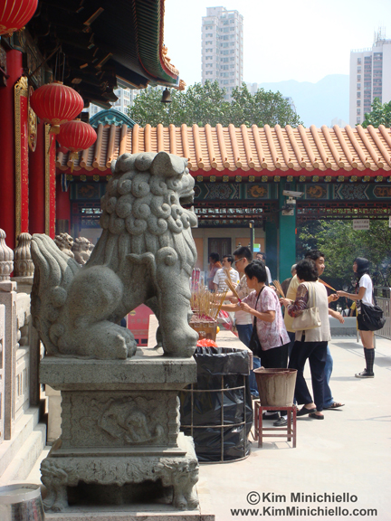 Worshippers at Wong Tai Sin