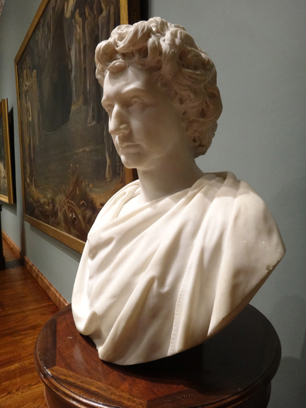 Bust of Edwin Wallace Stoughton, Marble,  1874 by Augustus Saint-Gauden, Ringling Museum of American Art