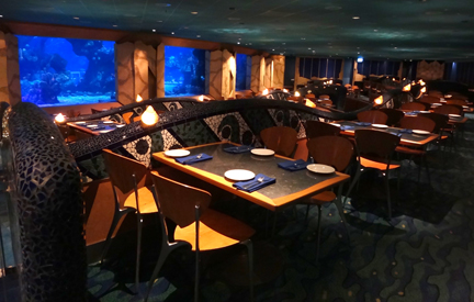 Interior of Coral Reef Restaurant at Epcot, Walt Disney World
