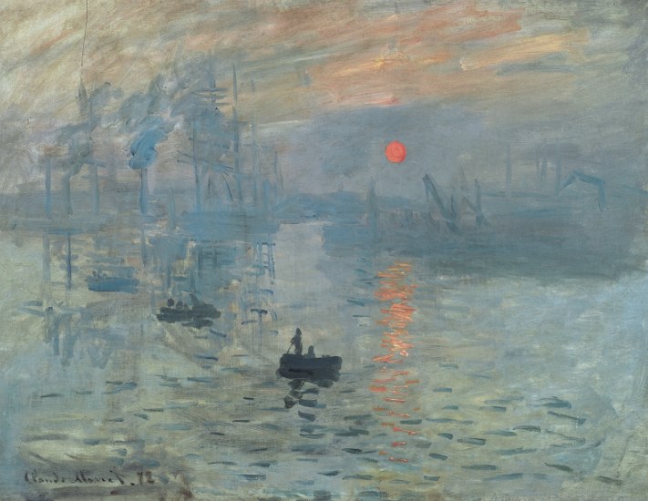 Impression:Sunrise, Oil in Canvas, Claude Monet, 1872, Musée Marmottan Monet, Paris