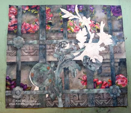 Work in Progress, Paris Passy Gate, Watercolor