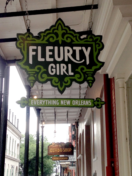 "Ironically the house is currently a shop named ""Fleurty Girl"""