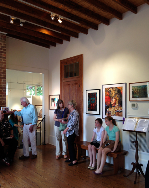 One of the rooms in the Garden District Gallery