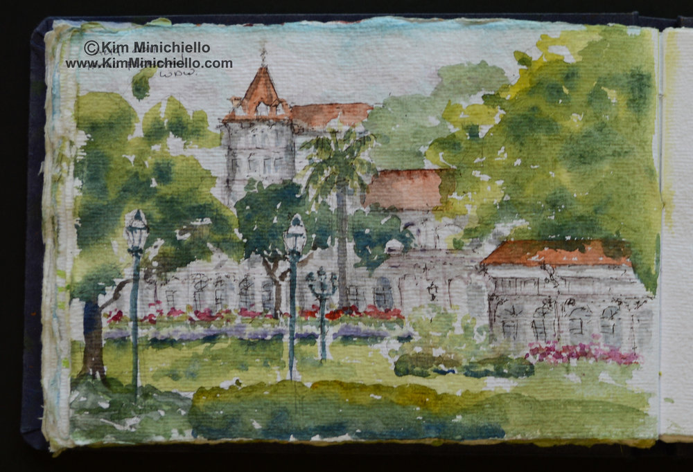 Watercolor on Handmade Paper