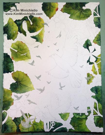 "Watercolor on Archival Paper, 22"" x 30"", 56 cm x 76 cm"