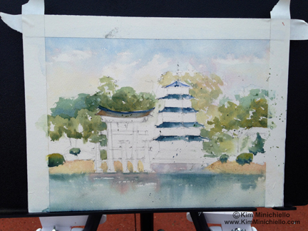 Starting on the Pavilion and the Tori Gate