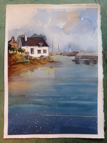 My Painting of Anstruther Scotland Done During the Workshop