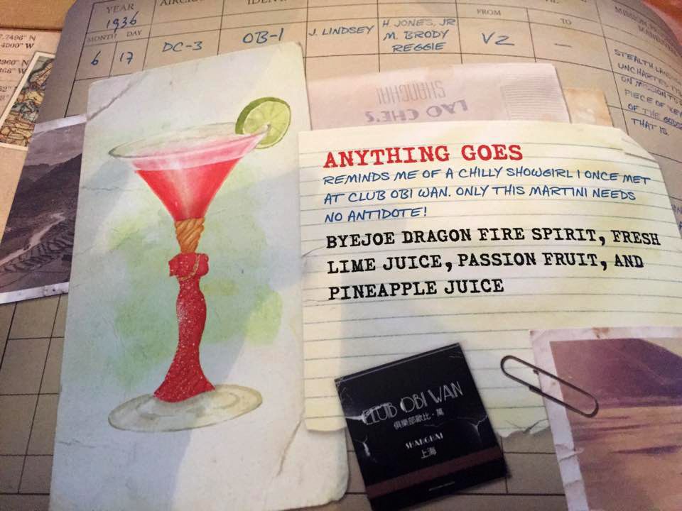Anything Goes: My illustrations in the menu photo credit  Steve Fox, Inside the Magic .