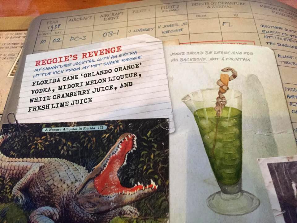 Reggie's Revenge:My illustrations in the menu photo credit  Steve Fox, Inside the Magic .