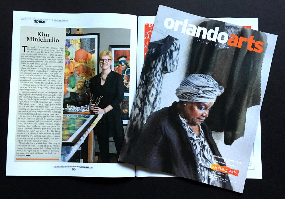 The November/December Issue of Orlando Arts Magazine