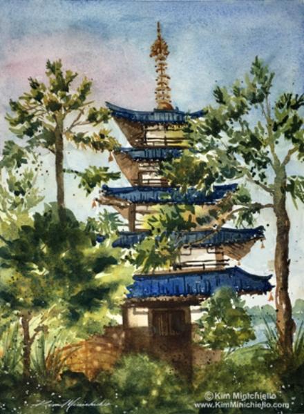 Japanese Pagoda (En Plein Air)