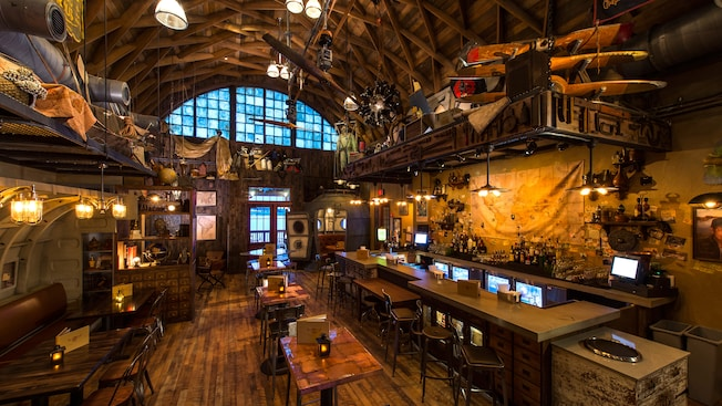 Interior of the Hangar Bar, photo credit, Walt Disney World Resort Website