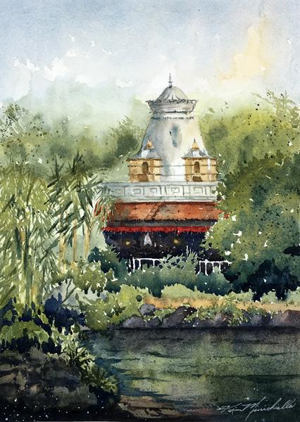 On the Kali River (En Plein Air)
