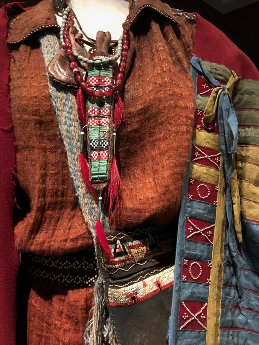 Detail, costume Native American Character