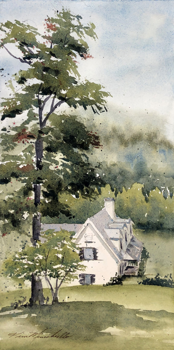 Misty Day Dahlonega, (En Plein Air)