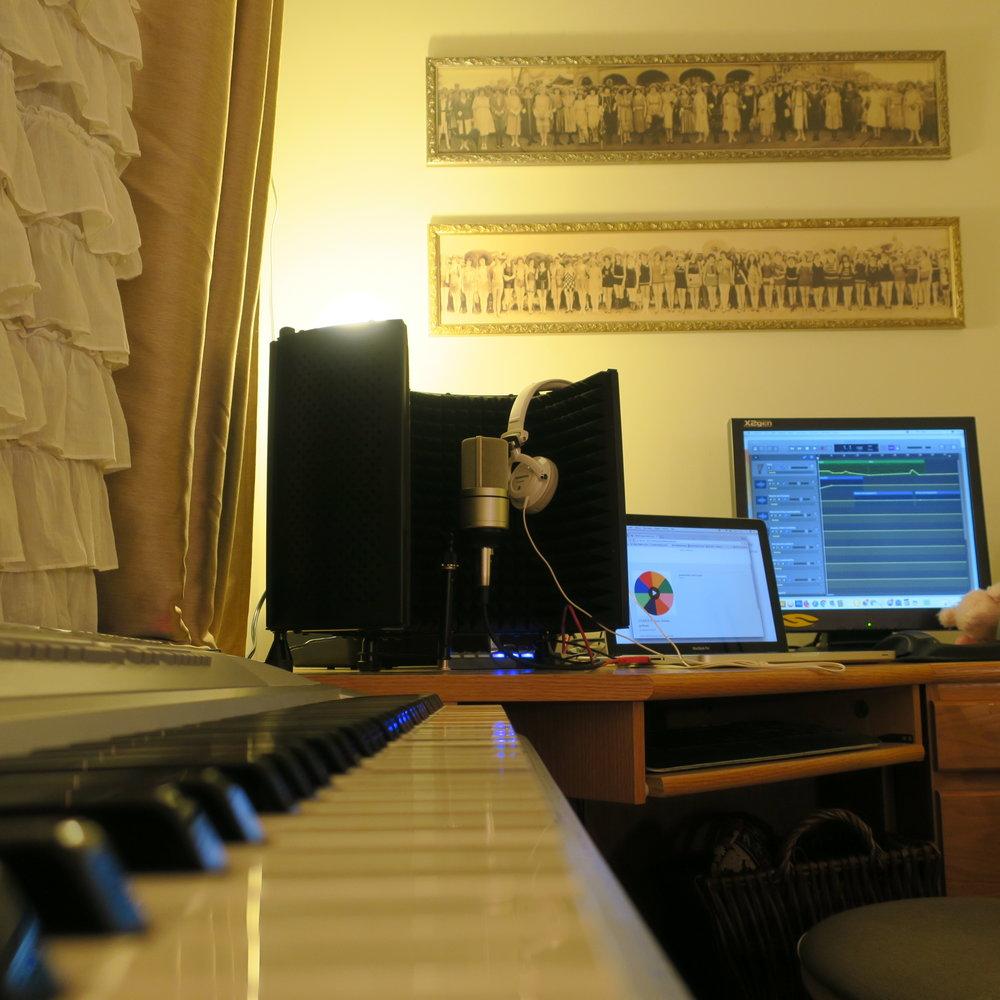 my home podcast studio