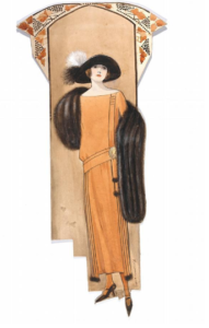 Hilda Steward, fashion design, London, 1923. Museum no. E.1039-1988. Victoria and Albert Museum.
