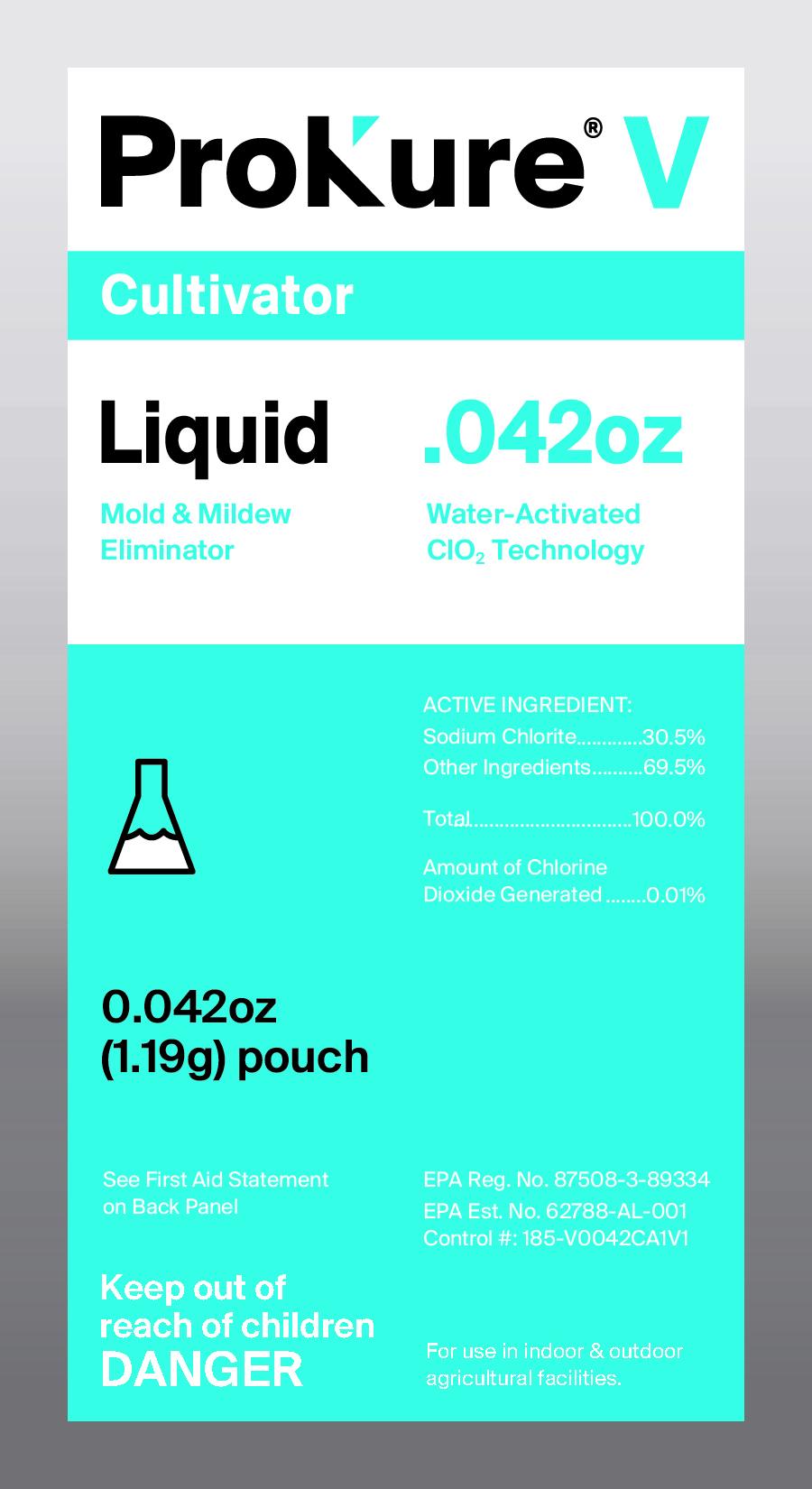 ProKure Liquid. 32oz - ProKure V Liquid, Mold & Mildew Eliminator, Disinfectant/Fungicide/Deodorizer(EPA Reg # 87508-3-89334; EPA Est #62788-AL-001)