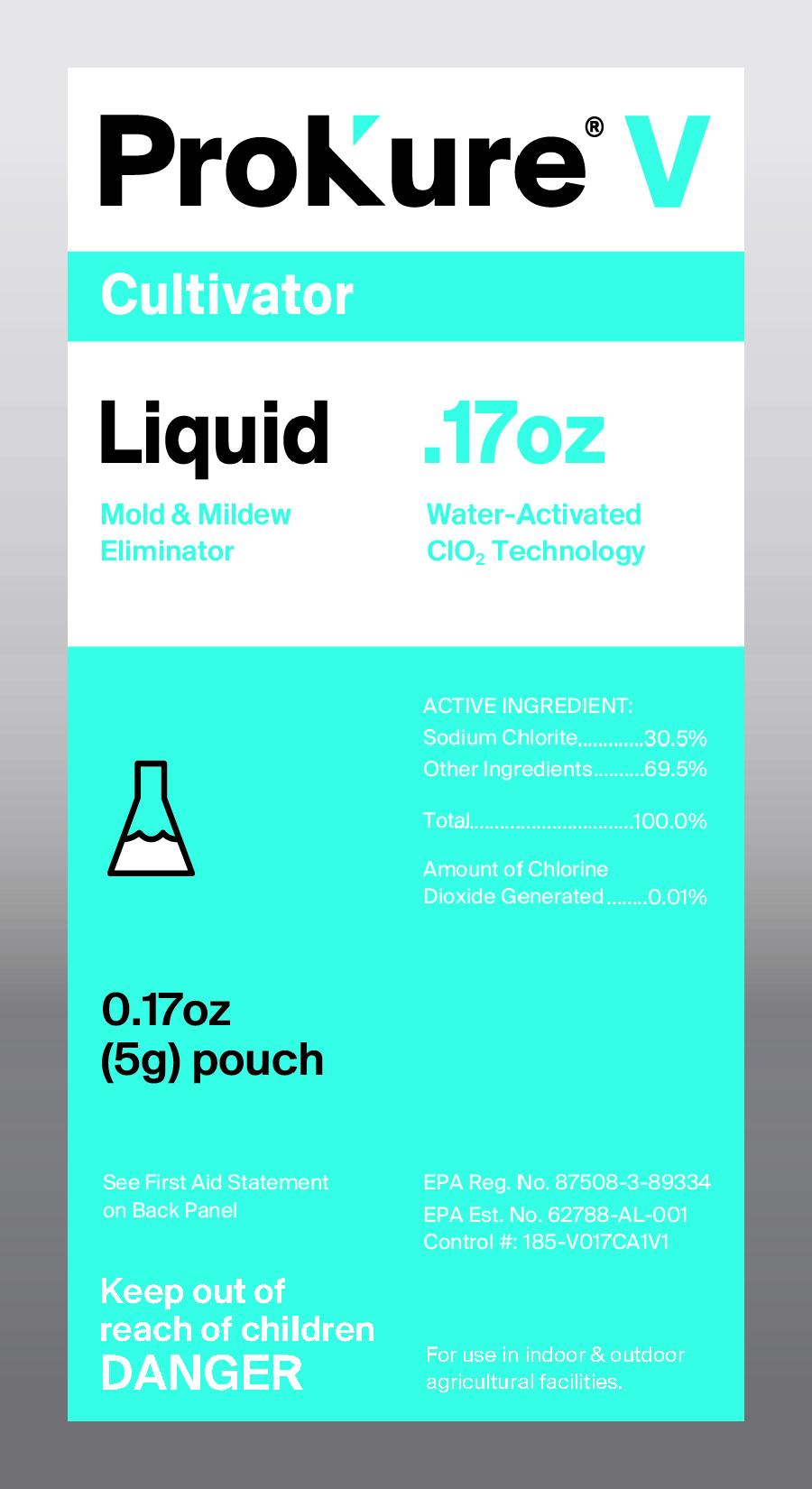 ProKure V Liquid 1 Gallon - ProKure V Liquid, Mold & Mildew Eliminator, Disinfectant/Fungicide/Deodorizer(EPA Reg # 87508-3-89334; EPA Est #62788-AL-001)