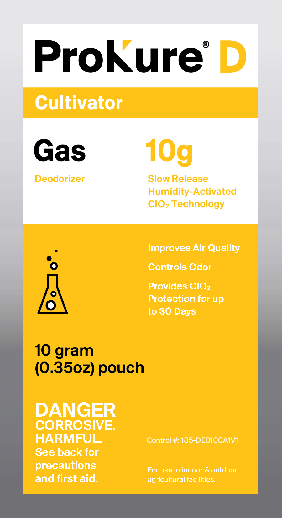 ProKure Extended Gas Release 1000 Cubic Feet - ProKure Extended Gas, CLO2 Protection for up to 30 days. Humidity Activated!