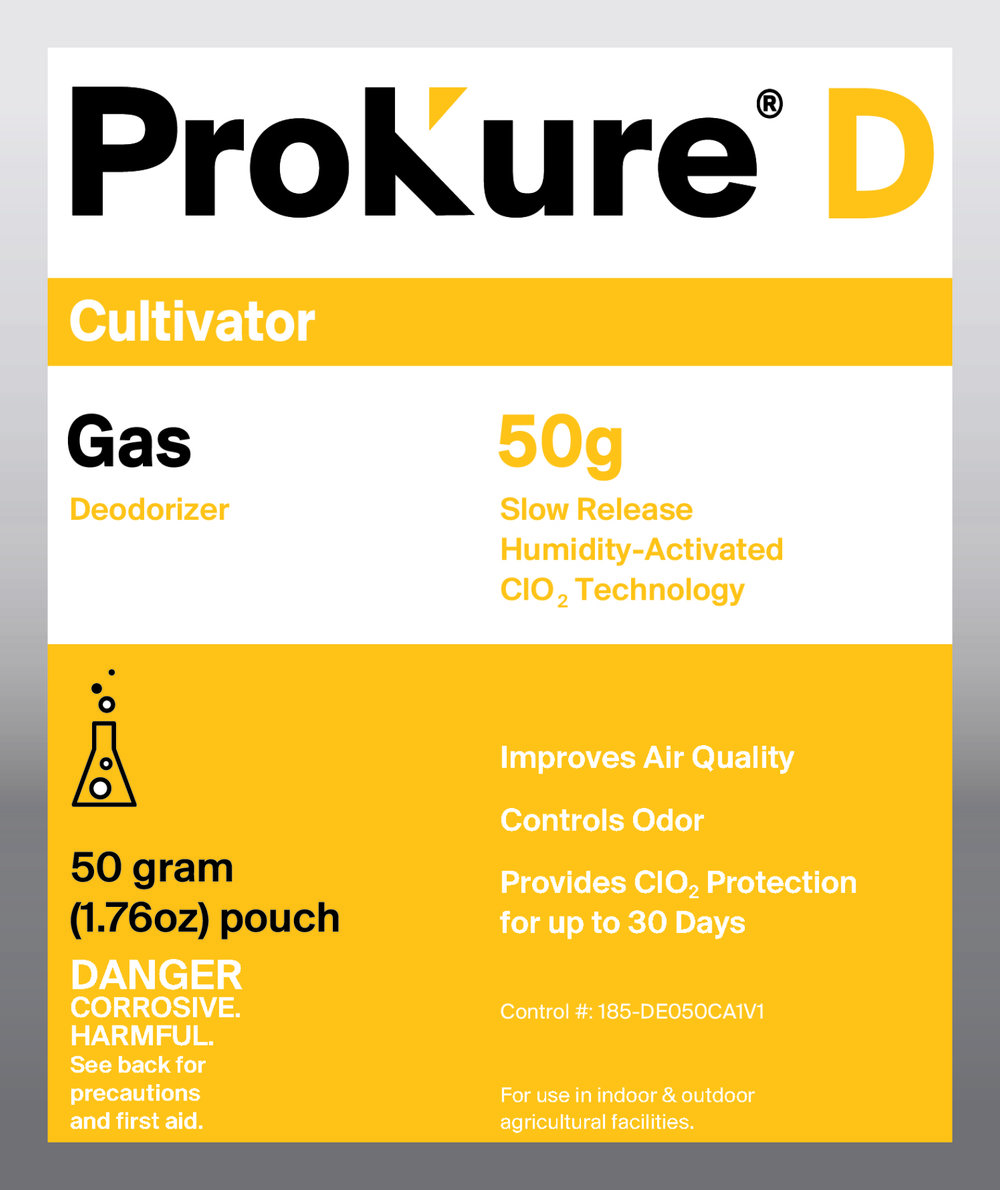 ProKure Extended Gas Release 4000 Cubic Feet - ProKure Extended Gas, CLO2 Protection for up to 30 days. Humidity Activated!