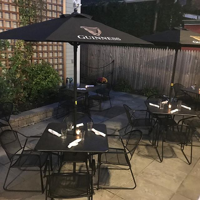 Patio is open! Come enjoy a drink or few and a soft shell crab sandwich! See ya soon. #guinness #guinness🍺